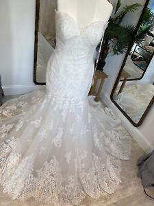 Rosa clara Ocre Sample Wedding Dress, Size Uk14