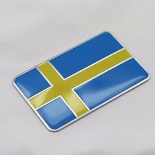 3D Sweden Flag Auto Car Fender/Trunk Emblem Badge Sticker For Vovlo/Saab/Scania
