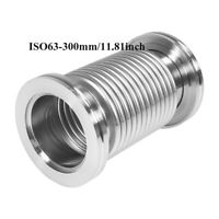 ISO63 300mm Bellows Hose Stainless Steel 304 Flange Flexible Vacuum Tube