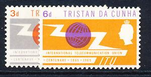 TRISTAN DA CUNHA 1965 I.T.U. CENTENARY SG85/86  MNH