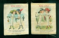 LP: c1910 Set Of 2 Zira Cigarette Silk Tobacco Silks