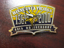 """Minnesota Vikings 1961-2000 40th Anniversary"" Lapel Pin"