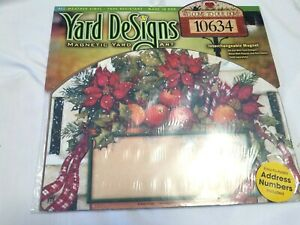 Yard DeSigns Poinsettia Fruit Welcome  Magnetic Yard Sign Art New in Package