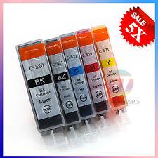 NEW 5x INK Cartridges PGI-520 CLI521 for CANON IP3600 IP4600 IP4700 Printer OZ