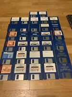 "💾 Commodore/Amiga  Joblot Bundle Approx 32 Used 3.5""Floppy  GAMES And SOFTWARE"