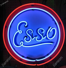 """24""""X24"""" Esso Extra Motor oil drop man gas station Real NEON SIGN BEER BAR LIGHT"""