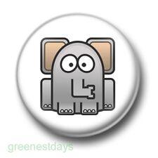 Cute Cartoon Elephant 1 Inch / 25mm Pin Button Badge Elephants Trunk Jungle Rawr