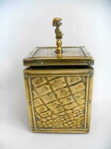 Vintage Tea Caddy with Cornish Pixie finial 12776