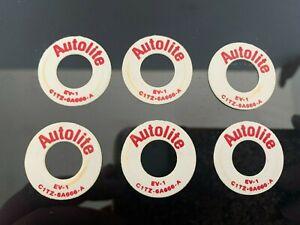 (6) Vintage 1968 Autolite Mercury Cougar PCV Valve Rings