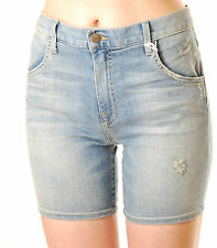Wildfox Women's Ladies Bijoux 4 Boyfriend Shorts Jeans Medium Light Blue BCF59