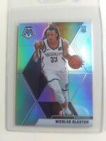 2019-20 Panini Mosaic Silver Prizm #236 Nicolas Claxton Brooklyn Nets RC Rookie