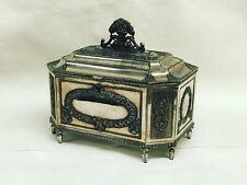 More details for silver plate edwardian jewellery box, large in size.