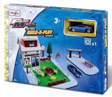 Maisto Kids Fresh Metal Coffee Shop Build & Play Set w/ Sports Car