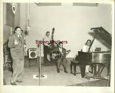 Vintage 1930s Jazz Pianist Joe Turner with Band Photo - Brown Bros