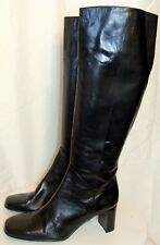 VANELI WOMENS TALL BLACK LEATHER BOOTS SIZE 7M  C131