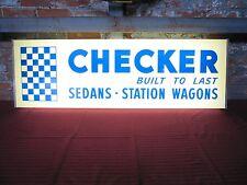 Original Vintage Checker Dealer Showroom Lighted Sign 1966