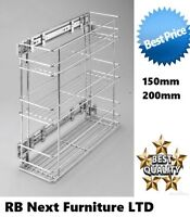 Soft close pull out kitchen storage pantry unit mesh wire storage 15cm or 20cm