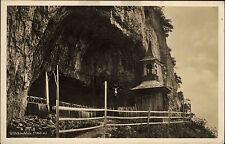 Appenzell Schweiz ~1930 Felsen Gebirge Berg Alpen Wildkirchlein Kapelle Kirche