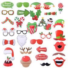 32x Photo Booth Requisite Bilderrahmen Weihnachten lustige Foto Accessoires