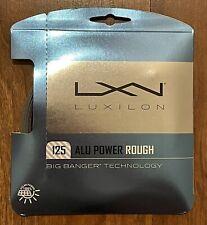 Luxilon ALU Power Rough 125 - 16L g Big Banger (1.25mm Tennis String) Set - New