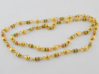 UK Indian Bollywood Jewelry Necklace Wedding 22k Gold Plated Chain Mala Set