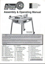 Triton Compact Saw Table TCA100 Assembly & Operating Manual