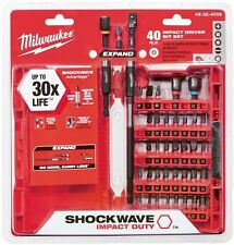 Milwaukee Shockwave Impact Duty Driver Bit Power Tool Set Accessory (40-Piece)