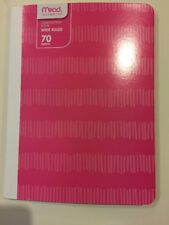 Mead Pink Pixelated Composition Book 70 Sheets Wide Ruled School Teacher Office