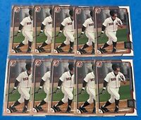 Andrew Benintendi (10) Count Lot 2015 Bowman Draft 182 Red Sox 1st Bowman Royals