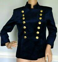 New Pierre BALMAIN Velvet Military Double Breasted Blazer Jacket US 4 6 / FR 38