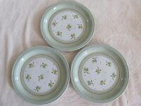 Denby/Langley- Verona - Yellow & Green Flowers -England - Set of 3 Salad Plates