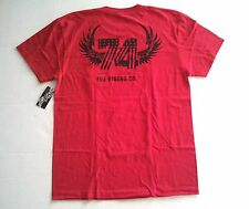 $26 NEW FOX RACING 74 S/S POCKET TEE T SHIRT RED LARGE code H152