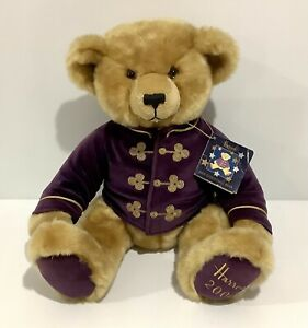 """Collectable Vintage Harrod's 2000 Christmas Bear With Tag - 13"""" / 33cm Harrods"""