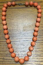 Large Antique 15mm-16mm Natural Old Coral Beads Necklace 159 grams