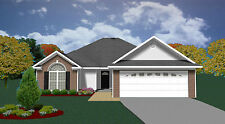 House Plans for 1550 Sq. Ft. 3 Bedroom Garden Style
