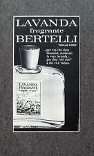 F628 - Advertising Pubblicità - 1963 - LAVANDA FRAGRANTE BERTELLI SIGILLO ORO