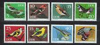 ALEMANIA/RDA EAST GERMANY 1973 MNH SC.1453/60 Songbirds