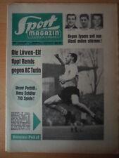 SPORT MAGAZIN KICKER 17 A-20.4. 1965 3* Dortmund-Nürnberg 4:2 Aachen-Schalke 4:3