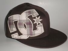 DC Shoes WONDER Hat Brown Tan S/M ($30) NEW Plaid Flexfit Cap Skate Moto Snow