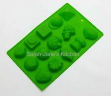 GREEN Assorted - Chocolate Collection 3 Silicone Mould Cherub Hat Ice Tin Tray