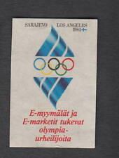 Ancienne  étiquette allumettes Finlande Jeux Olympique  Los Angeles 1984 Sport
