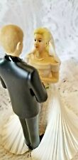 """Wilton Cake Topped Wedding Couple """"With This Ring"""" Blonde Hair"""