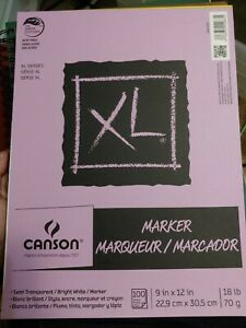 """🔥New🔥Canson XL Series Marker Pad Semi-Transparent 9 x 12"""" 18lb/70g Acid Free"""