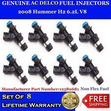 """""""NON-FLEX FUEL"""" OEM ACDelco Fuel Injectors 2008 Hummer H2 6.2L V8 #12580681"""