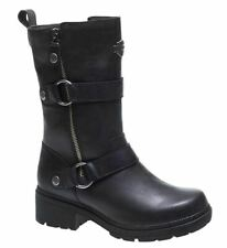 Harley Davidson Ardsley Black Winter Leather Riding Boots Womens US 5.5 D84258