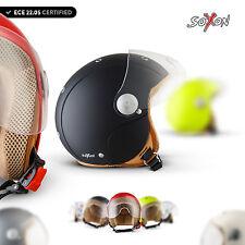 ⛑ SOXON SK-55 CASCO MOTO MINI-JET ⸺ NINOS MOTOCICLETA SCOOTER RETRO KIDS ⸺ XXS–S