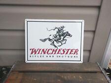 "Winchester Metal Sign Gun Shop Garage Hunting Cabin 9x12"" 50148"