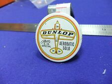 vtg tin badge dunlop tyres advert pitts special aviation advert aerobatic 1960s