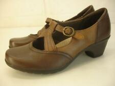 Women's sz 7.5 M Earth Origins Shoes Regina Brown Leather Comfort Mary Jane Pump