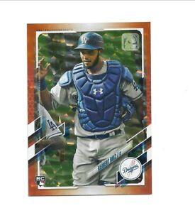 2021 Topps Series 1 KEIBERT RUIZ #256 Orange Parallel Rookie card /299--Dodgers